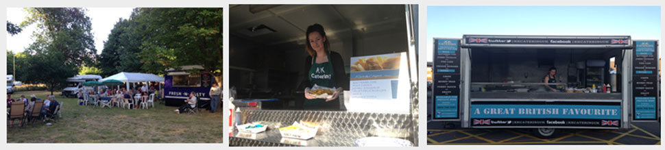 friendly fish and chip van service for your tipi wedding
