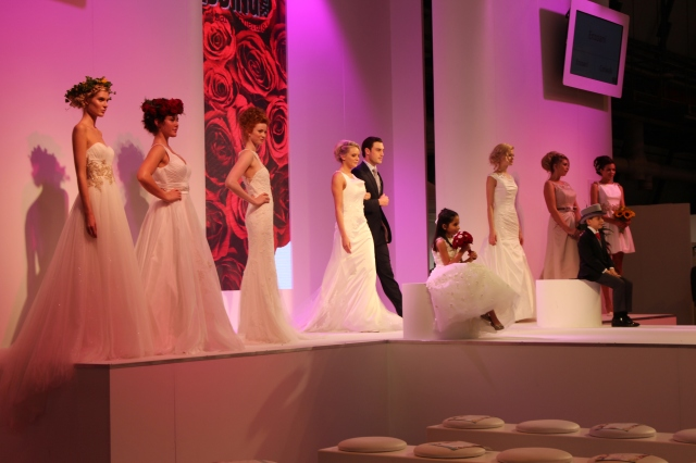 The national wedding show, catwalk show by sami tipi event tipi hire in the midlands