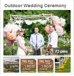outdoor wedding ceremony pinterest board