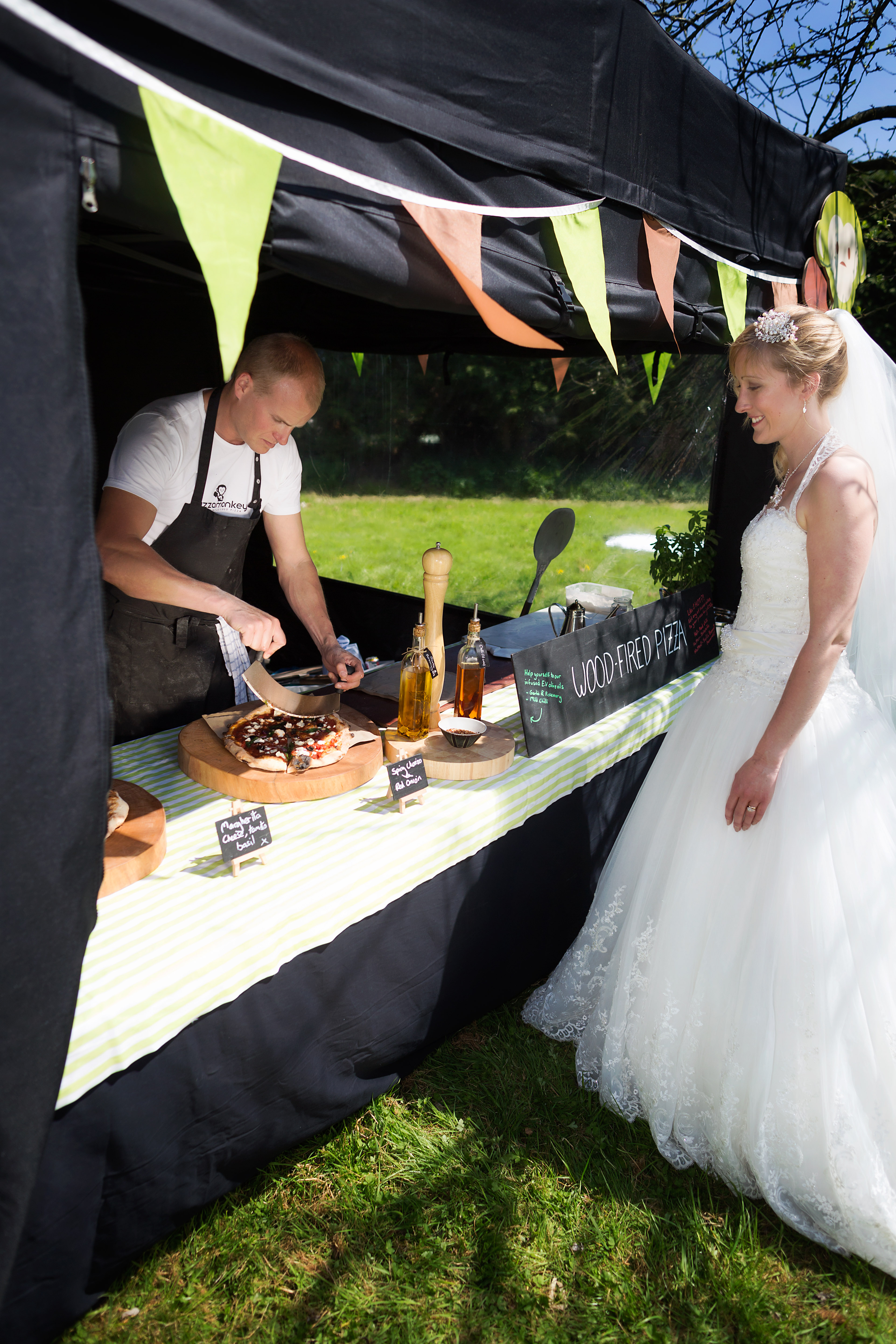 pizza and salads casual dining perfect for and outdoor wedding
