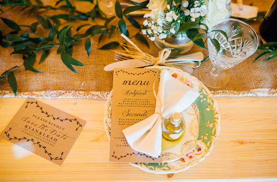 Rustic Table Setting - Image by Matt Brown Photography