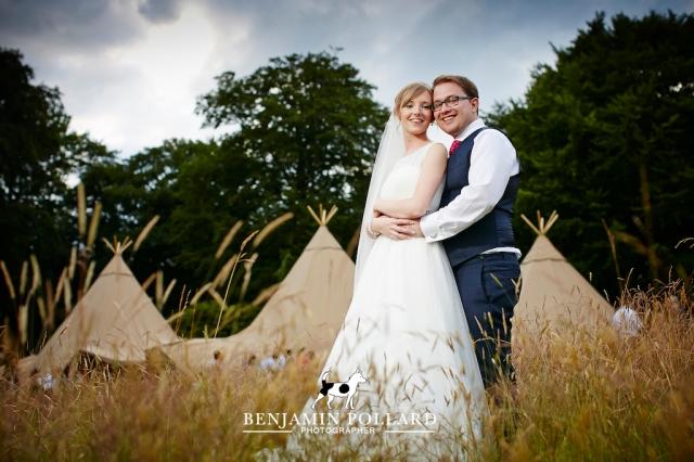 Tipi Wedding Meynell Langley Derbyshire
