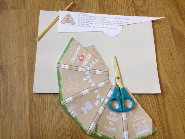 Step by Step guide to building a diy tipi invite