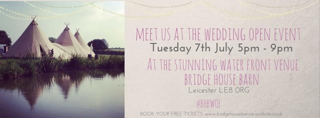 Bridge House Barn Wedding Open Evening